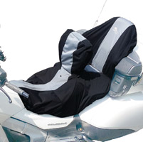 BikeSheath Black and Grey Seat and Tank Cover