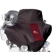 BikeSheath Black and Burgundy Batwing Fairing Cover