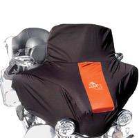 BikeSheath Black and Orange Batwing Fairing Cover