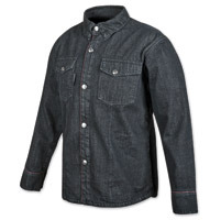 Speed and Strength Men's GridLock Denim Moto Black Shirt