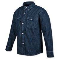 Speed and Strength Men's GridLock Denim Moto Indigo Shirt