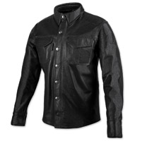 Speed and Strength Men's Killswitch Black Leather Moto Shirt