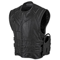 Speed and Strength Men's The Quick and the Dead Black Leather Vest