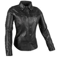 Speed and Strength Women's Black Heart Black Leather Moto Shirt