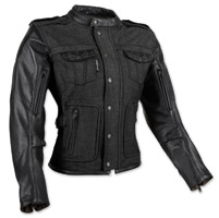 Speed and Strength Women's Six Speed Sisters Black Leather/Denim Jacket
