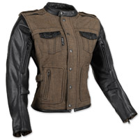 Speed and Strength Women's Six Speed Sisters Brown Leather/Denim Jacket