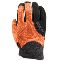 Speed and Strength United By Speed Orange Mesh Gloves