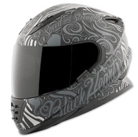 Speed and Strength SS1310 Black Heart Gray/Black Full Face Helmet