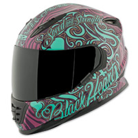 Speed and Strength SS1310 Black Heart Purple/Teal Full Face Helmet