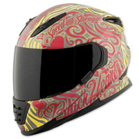 Speed and Strength SS1310 Black Heart Red/Yellow Full Face Helmet
