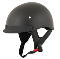 Speed and Strength SS410 Solid Speed Matte Black Half Helmet