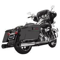 Bassani 4″ Chrome with Black Tip Straight Mufflers
