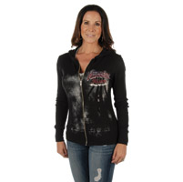 Liberty Wear Women's Midnight Rider Black Hoodie