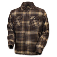 Roland Sands Design Men's Stoddard Brown Plaid Long Sleeve Shirt