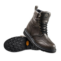 Roland Sands Design Men's Mojave Gray Leather Boots