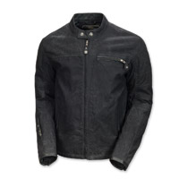 Roland Sands Design Men's Ronin Black Waxed Cotton Jacket