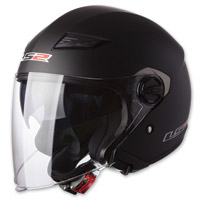 LS2 Track 569 Solid Matte Black Open Face Helmet