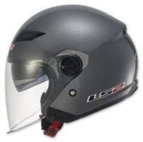 LS2 Track 569 Solid Gunmetal Open Face Helmet