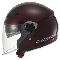 LS2 Track 569 Solid Wineberry Open Face Helmet