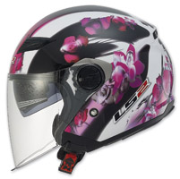 LS2 Track 569 Floral Pink Open Face Helmet