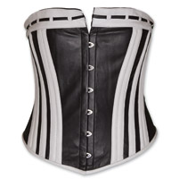 Vance Leathers Women's Black & White Leather Corset