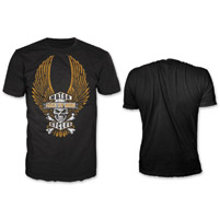 Lethal Threat Men's Winged Motorcycle Black T-Shirt