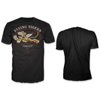 Lethal Threat Men's Flying Tiger Black T-Shirt