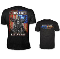 Lethal Threat Men's Ridin Free Black T-Shirt