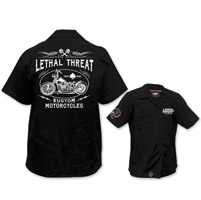 Lethal Threat Men's Kustom Motorcycle Black Work Shirt