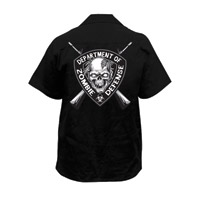Lethal Threat Men's Zombie Defense Black Work Shirt