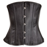 Vance Leathers Women's Classic Black Leather Corset