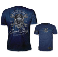 Lethal Threat Vintage Velocity Men's Speed Shop Blue T-Shirt