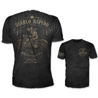 Lethal Threat Vintage Velocity Men's Diablo Rapido Black T-Shirt