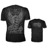 Lethal Threat Vintage Velocity Men's Cigar Skull Black T-Shirt