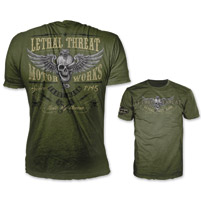 Lethal Threat Men's Taste My Venom Army Green T-Shirt