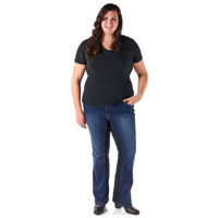 Gravitate Women's Plus Size Indigo Blue Motorcycle Jeans