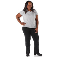 Gravitate Women's Plus Size Black Motorcycle Jeans