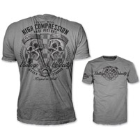 Lethal Threat Vintage Velocity Men's High Compression Pistons Gray T-Shirt
