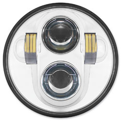 HogWorkz 5-3/4″ LED Chrome Headlight