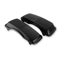 HogWorkz Black Saddlebag Speaker Lids