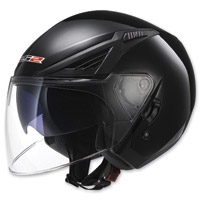 LS2 Bishop Solid Matte Black Open Face Helmet