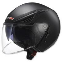LS2 Bishop Solid Gloss Black Open Face Helmet