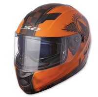LS2 Stream Fan Matte Orange Full Full Face Helmet