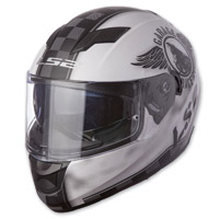 LS2 Stream Fan Matte White Full Full Face Helmet
