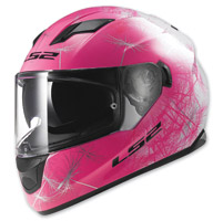 LS2 Stream Fan Pink/White Full Full Face Helmet