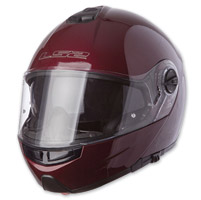 LS2 Strobe Solid Wineberry Modular Helmet