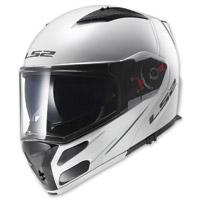 LS2 Metro Solid White Modular Helmet
