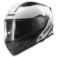 LS2 Metro Rapid White/Black Modular Helmet