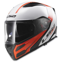 LS2 Metro Rapid White/Red Modular Helmet