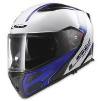 LS2 Metro Rapid White/Blue Modular Helmet